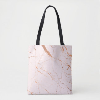 Pink and Rose Gold Marble Tote Bag