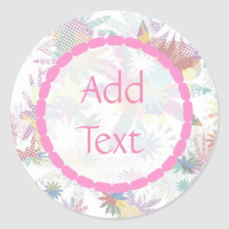 Pink and Sage Green Floral Custom Stickers