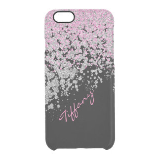 Pink and Silver Glittery iPhone 6 Case