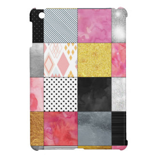 Pink and Silver Quilt iPad Mini Cases