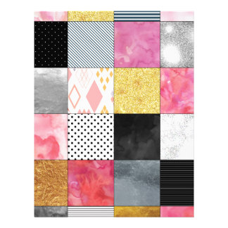 Pink and Silver Quilt Letterhead