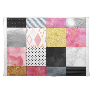 Pink and Silver Quilt Placemat