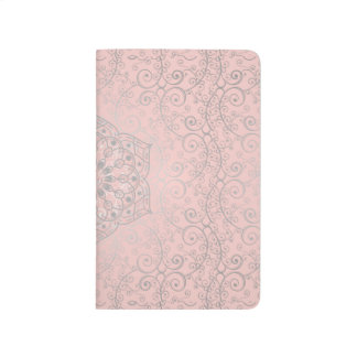 Pink And Silver Romantic Pattern | Pocket Journal
