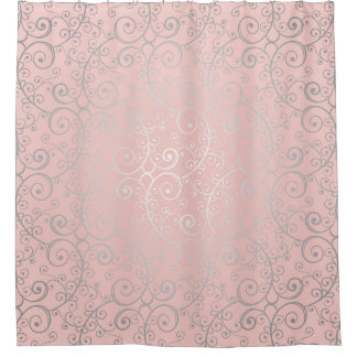 Pink and Silver Swirled and Glamorous Boho Pattern