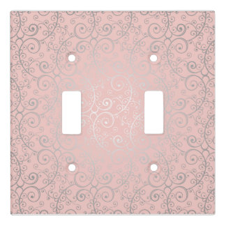 Pink and Silver Swirled Boho | Light Switch Cover