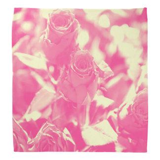 Pink and Soft Yellow Roses Bandana