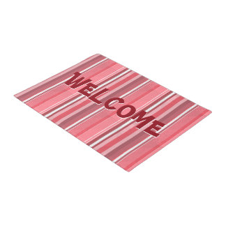 Pink and Stinky Stripes Doormat