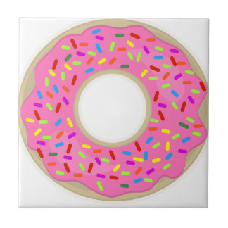 Pink and Tasty Donut Tile