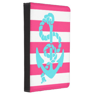 Pink and Teal Anchor Kindle 4 Case