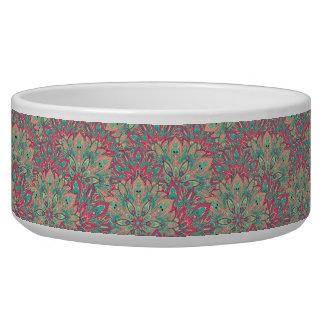 Pink and Teal mandala pattern.