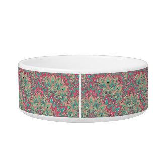 Pink and Teal mandala pattern. Bowl