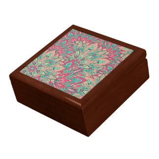 Pink and Teal mandala pattern. Gift Box