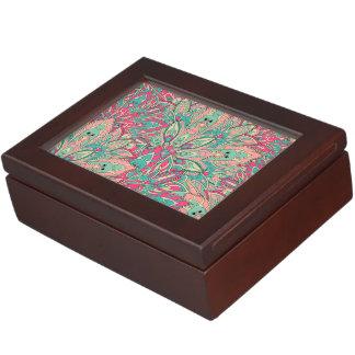 Pink and Teal mandala pattern. Keepsake Box