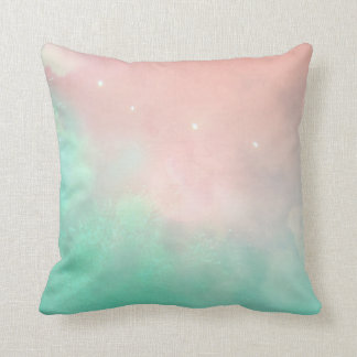 Pink and Teal Washed Pillow