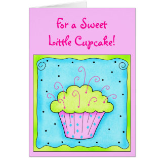 Pink and Turquiose Cupcake Card