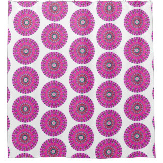 Pink and Turquoise Boho Round Mandala (Lg Print)