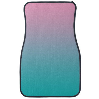 """Pink And Turquoise Ombre"" Car Mat"