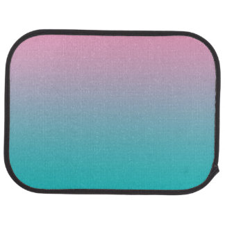 """Pink And Turquoise Ombre"" Floor Mat"