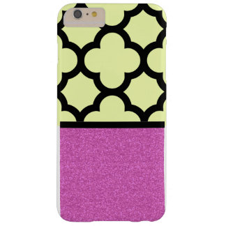Pink and Vanilla Quatrefoil design Barely There iPhone 6 Plus Case