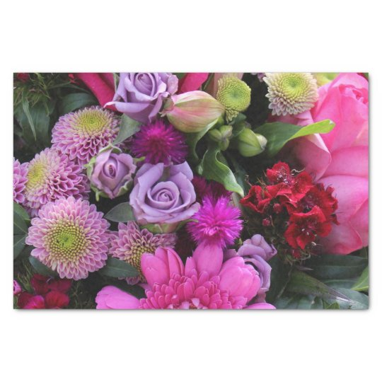 Pink and Violet Bouquet Tissue Paper