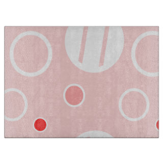 Pink and White Abstract Circle Pattern Boards