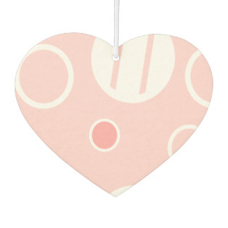 Pink and White Abstract Circle Pattern Car Air Freshener