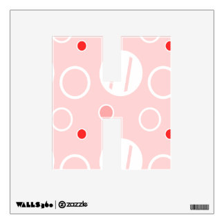 Pink and White Abstract Circle Pattern Wall Sticker