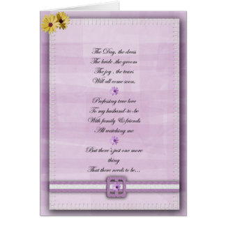 Pink and white Be my bridemaid card