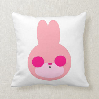 Pink and White Bunny Pillow