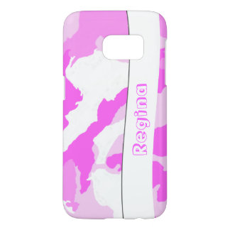 Pink and White Camouflage Pattern Samsung Galaxy S7 Case