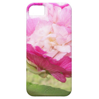 pink and white changeable hibiscus bloom iPhone 5 case