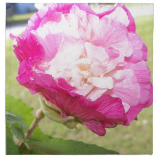pink and white changeable hibiscus bloom napkin