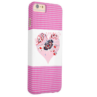 Pink and White Check Las Vegas Barely There iPhone 6 Plus Case