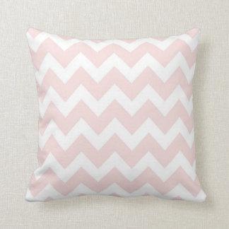 Pink and White Chevron Throw Pillow