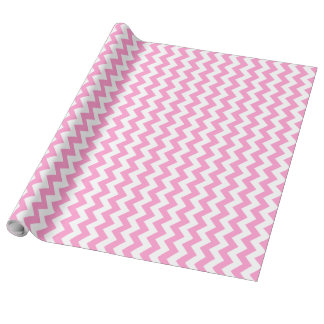 Pink and White Chevron Wrapping Paper