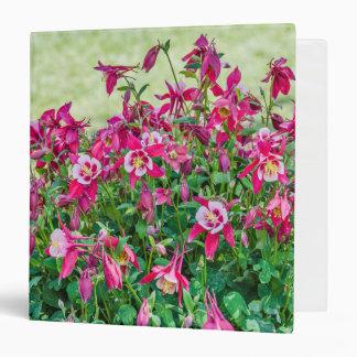 Pink and White Columbine; Flowers; Cheerful Binder