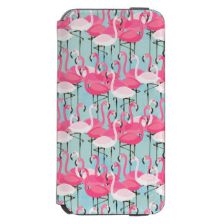Pink And White Crowd Of Flamingos Incipio Watson™ iPhone 6 Wallet Case