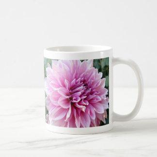 Pink and White Dahlia Coffee Mug