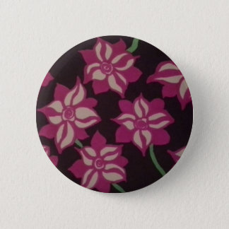 Pink and White Dahlia Pattern 2 Inch Round Button