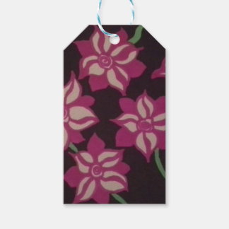 Pink and White Dahlia Pattern Gift Tags