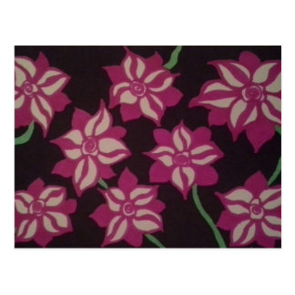 Pink and White Dahlia Pattern Postcard