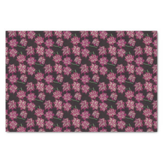 Pink and White Dahlia Pattern Tissue Paper