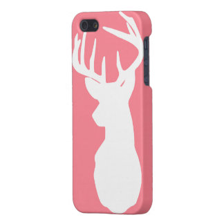 Pink and White Deer Case (MATTE) iPhone 5 Covers