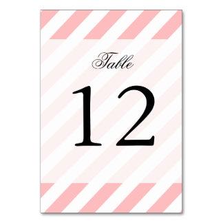 Pink and White Diagonal Stripes Pattern Card