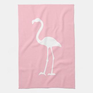 Pink and White Flamingo Towel