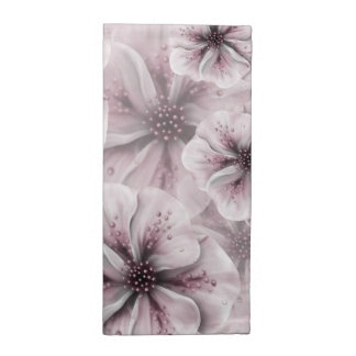 Pink and White Floral Napkin