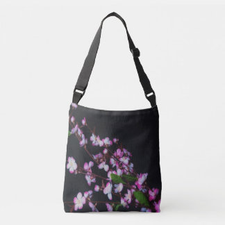Pink and White flower crossbody bag
