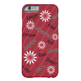Pink and white flower motivational cell phone case barely there iPhone 6 case
