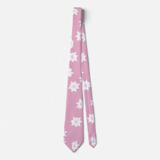 Pink and White Flowers Tie