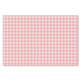 Pink and white Gingham plaid Tissue Paper